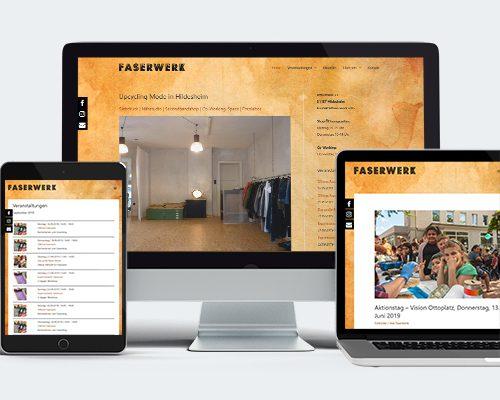 Faserwerk Website Mockup